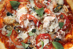 Pizza seafood Royalty Free Stock Images