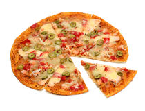 Pizza with seafood Stock Image