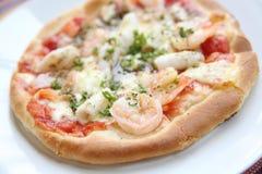 Pizza seafood Stock Photo