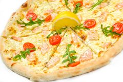 Pizza with seafood Royalty Free Stock Photo