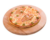 Pizza with seafoods Stock Photo