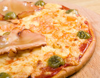 Pizza with seafoods Stock Image
