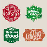 Pizza seals Royalty Free Stock Image