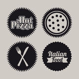 Pizza seals Royalty Free Stock Photo