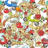 Pizza seamless background vector illustration Royalty Free Stock Image