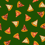 Pizza, seamless pattern, background vector illustration Royalty Free Stock Images