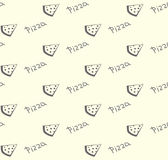 Pizza seamless pattern. Modern background simple slice Royalty Free Stock Photo