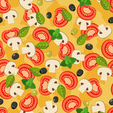Pizza seamless pattern. stock illustration