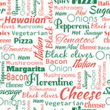 Pizza seamless pattern. Useful for restaurant identity, packagin Royalty Free Stock Photo