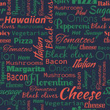 Pizza seamless pattern. Useful for restaurant identity, packagin Royalty Free Stock Image