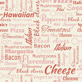 Pizza seamless pattern. Stock Images