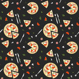 Pizza seamless pattern .Vector illustration Royalty Free Stock Images