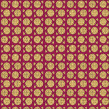 Pizza seamless pattern with whole and slice Stock Photography
