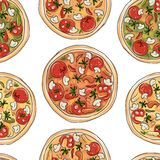 Pizza, seamless pattern for your design Stock Photo