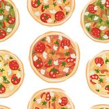 Pizza, seamless pattern for your design Royalty Free Stock Image