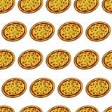 Pizza seamless Stock Photos
