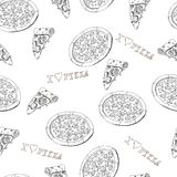 Pizza seamless Stock Images