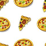 Pizza seamless Stock Photography