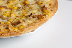 Pizza served on a plate Royalty Free Stock Photos