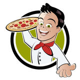 Pizza server  Royalty Free Stock Photo
