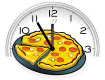 Pizza service Stock Photography