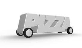 Pizza service Royalty Free Stock Photography