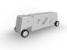 Pizza service Stock Image