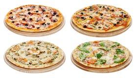 Pizza set Obrazy Royalty Free