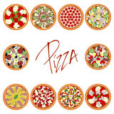 Pizza set Royalty Free Stock Image