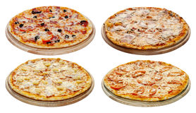 Pizza set Stock Images