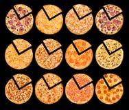 Pizza set Royalty Free Stock Photo