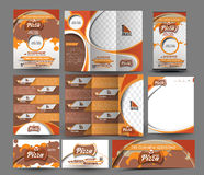 Pizza Shop Business Stationery Stock Images