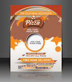 Pizza Shop Flyer Stock Photo
