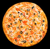 Pizza with shrimps, clipping path Royalty Free Stock Image