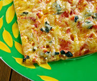 Pizza siciliana Fotografia Stock Libera da Diritti