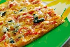 Pizza siciliana Imagen de archivo