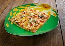 Pizza siciliana Fotografía de archivo