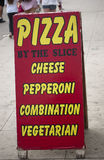 Pizza sign Stock Photography