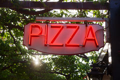 Pizza sign Royalty Free Stock Photo