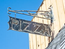Pizza sign Stock Image