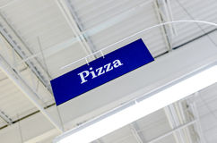 Pizza Sign Seen From Below Stock Photography
