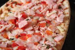 Pizza sin procesar Imagen de archivo