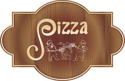 Pizza sing, Royalty Free Stock Photo