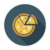 Pizza. Single flat color icon. Stock Photos