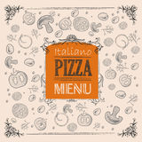 Pizza sketch background Stock Image