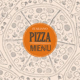 Pizza sketch background Royalty Free Stock Photo