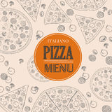 Pizza sketch background Stock Photography