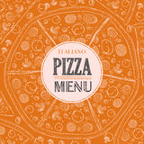 Pizza sketch background Royalty Free Stock Photography