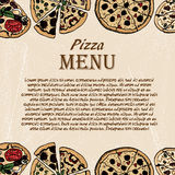Pizza sketch 17 Royalty Free Stock Photography