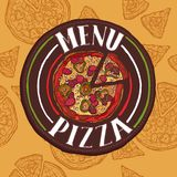 Pizza sketch menu Royalty Free Stock Photo